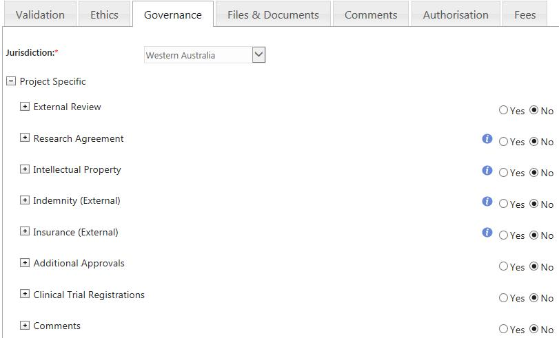 Complete The Governance Tab